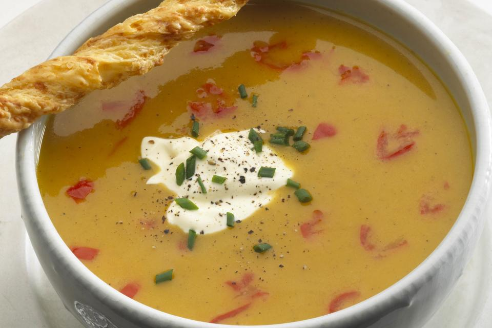 Chilled Butternut Squash and Peppadew Sweet Piquante Pepper Soup