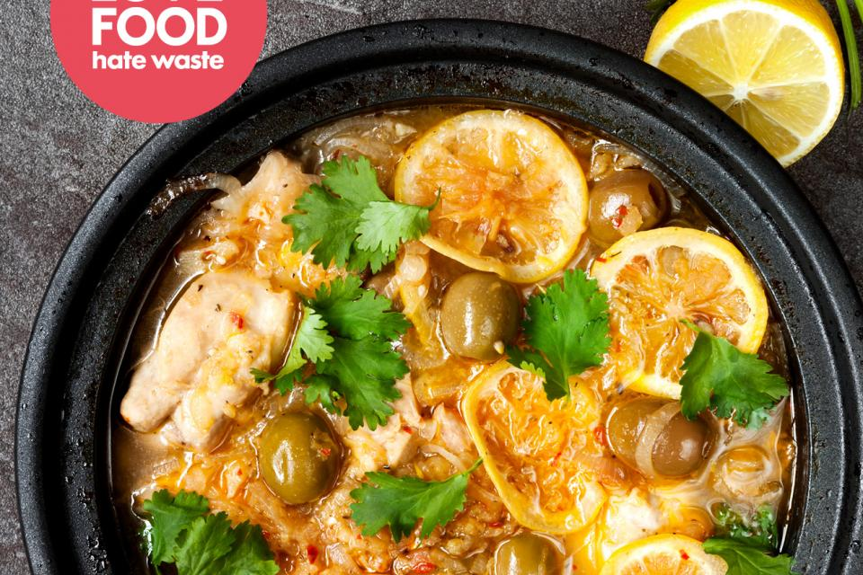 Lemon Chicken Slow Cooker Tagine