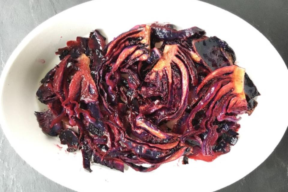 Pomegranate Glazed Red Cabbage