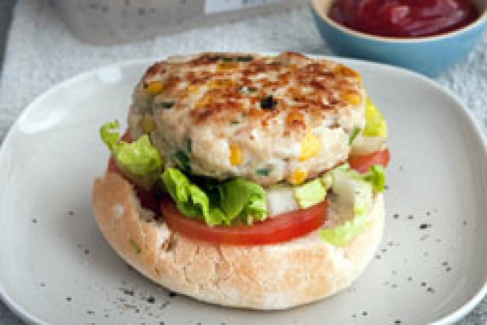 Turkey and Sweetcorn Burgers