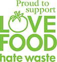 Proud to support Love Food Hate Waste logo