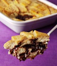 Chocolate Bread & Butter Pudding - leftover recipe