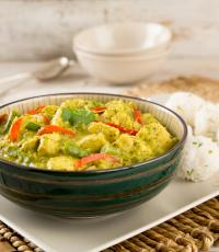 Green Thai Curry with Sticky Rice Balls
