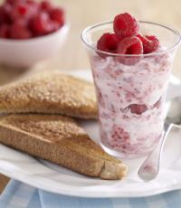 Yoghurt and Raspberry Toast by Great Little Ideas